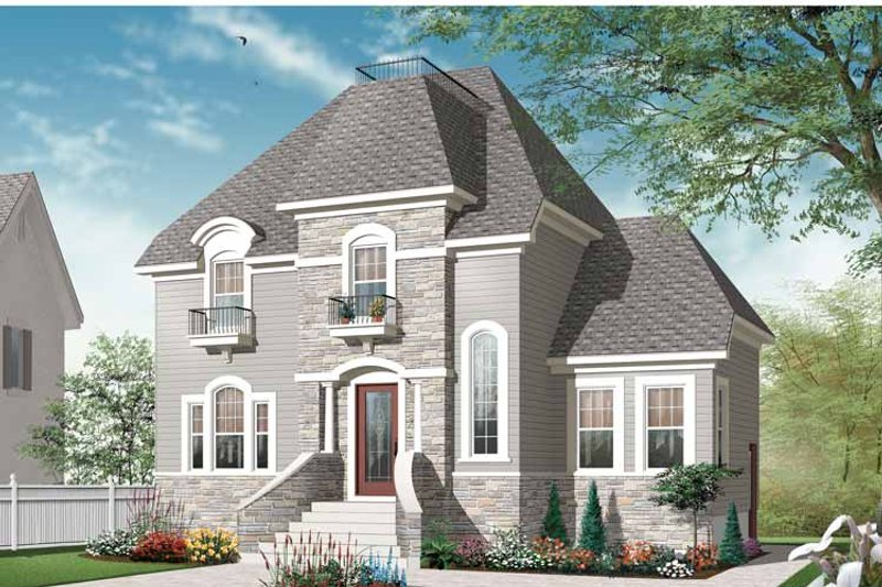 European Exterior - Front Elevation Plan #23-2504 - Houseplans.com
