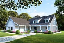 Architectural House Design - Farmhouse Exterior - Front Elevation Plan #923-106