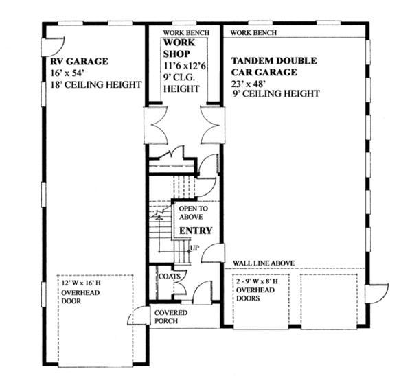 Traditional Floor Plan - Main Floor Plan Plan #118-166