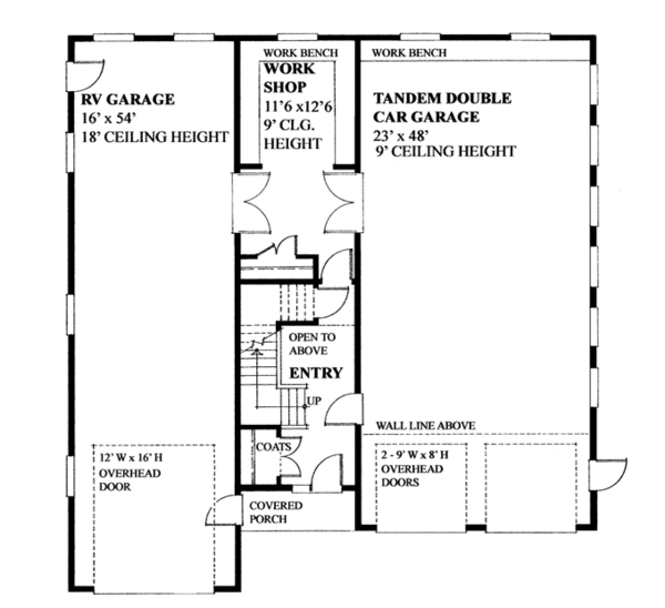 Traditional Floor Plan - Main Floor Plan Plan #118-166
