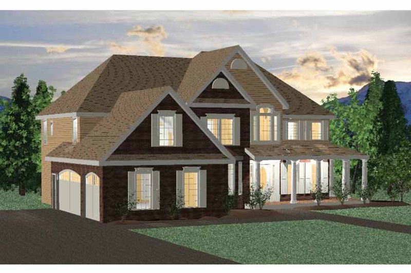 Traditional Exterior - Front Elevation Plan #937-22 - Houseplans.com