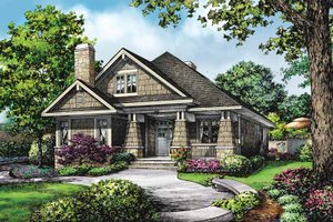 Dream House Plan - Craftsman Exterior - Front Elevation Plan #929-847