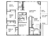 Traditional Floor Plan - Upper Floor Plan Plan #117-867