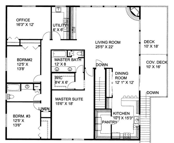 Home Plan - Traditional Floor Plan - Upper Floor Plan #117-867