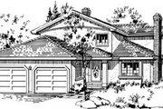 Traditional Style House Plan - 3 Beds 2.5 Baths 1779 Sq/Ft Plan #18-9043 Exterior - Front Elevation