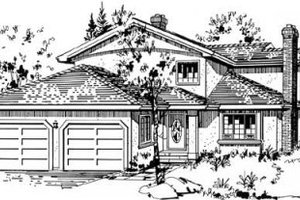 Traditional Exterior - Front Elevation Plan #18-9043
