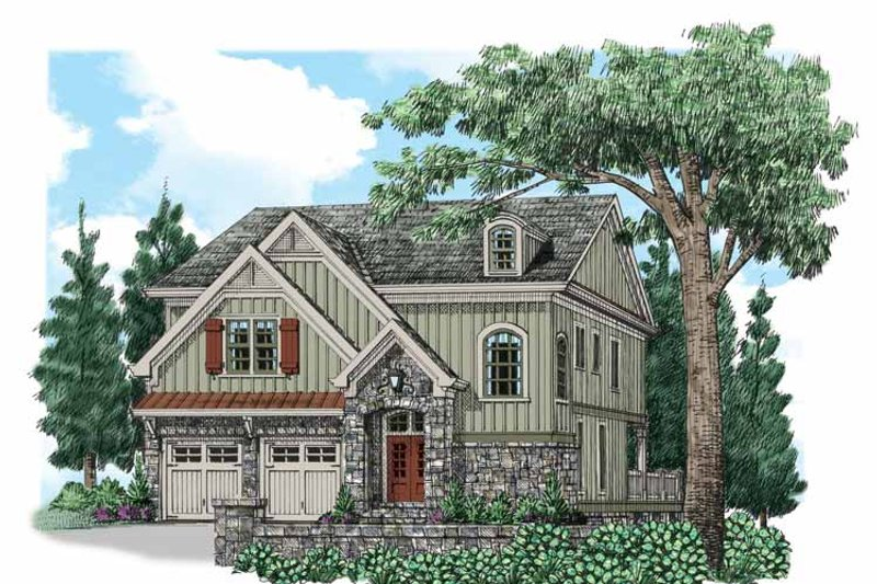 Traditional Exterior - Front Elevation Plan #927-538 - Houseplans.com