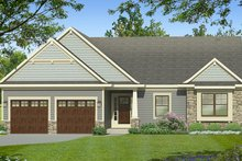 House Plan Design - Ranch Exterior - Front Elevation Plan #1010-184
