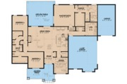 European Style House Plan - 3 Beds 2.5 Baths 2253 Sq/Ft Plan #923-80