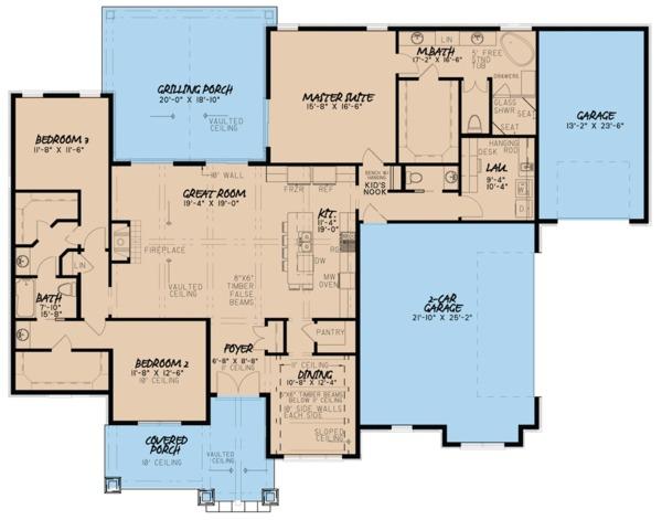 European Floor Plan - Main Floor Plan Plan #923-80