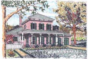 Colonial Exterior - Front Elevation Plan #76-104