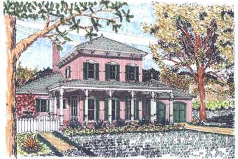 Colonial Style House Plan - 3 Beds 2.5 Baths 2371 Sq/Ft Plan #76-104 Exterior - Front Elevation