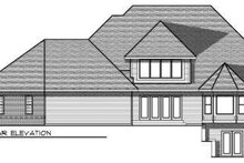 Dream House Plan - Traditional Exterior - Rear Elevation Plan #70-695