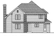 Traditional Style House Plan - 3 Beds 2.5 Baths 1850 Sq/Ft Plan #70-221 Exterior - Rear Elevation