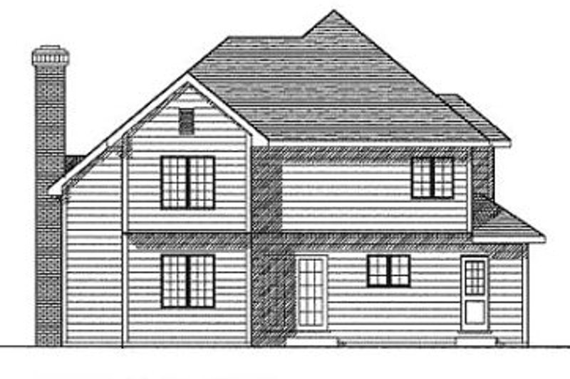Traditional Exterior - Rear Elevation Plan #70-221 - Houseplans.com