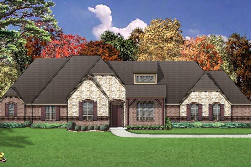 Dream House Plan - European Exterior - Front Elevation Plan #84-464