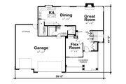 Craftsman Style House Plan - 4 Beds 3.5 Baths 2540 Sq/Ft Plan #20-2328 Floor Plan - Main Floor