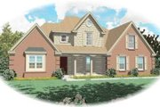 Traditional Style House Plan - 3 Beds 2.5 Baths 2088 Sq/Ft Plan #81-798 Exterior - Front Elevation