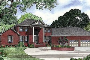 Southern Exterior - Front Elevation Plan #17-629