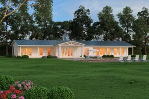 Ranch Exterior - Front Elevation Plan #888-9