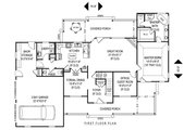 Country Style House Plan - 4 Beds 2.5 Baths 2705 Sq/Ft Plan #11-225 Floor Plan - Main Floor