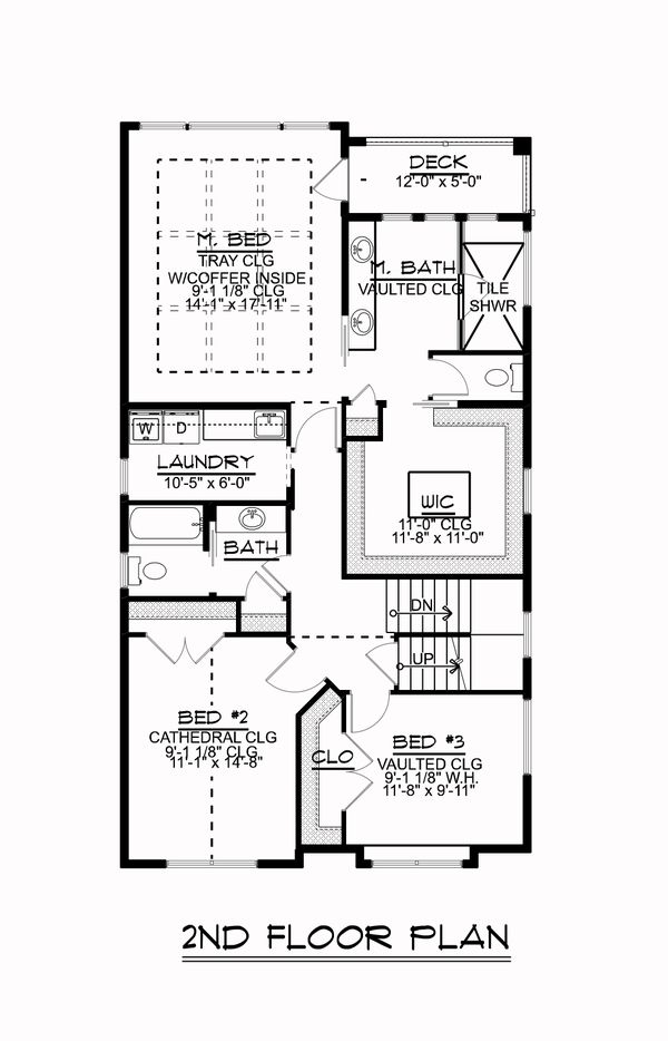 Dream House Plan - Craftsman Floor Plan - Upper Floor Plan #1064-84