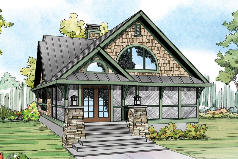 Craftsman Exterior - Front Elevation Plan #124-1151