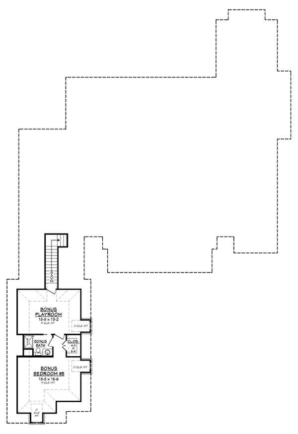 European Floor Plan - Upper Floor Plan Plan #430-126