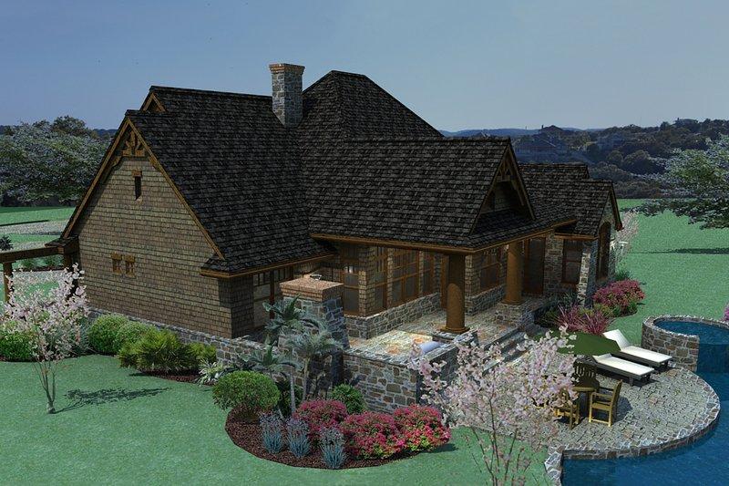 Craftsman Exterior - Rear Elevation Plan #120-171 - Houseplans.com
