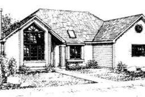 Contemporary Exterior - Front Elevation Plan #303-103