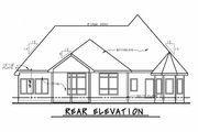 European Style House Plan - 2 Beds 2.5 Baths 2018 Sq/Ft Plan #20-2079 Exterior - Rear Elevation