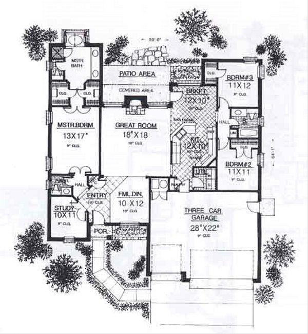 Traditional Floor Plan - Main Floor Plan #310-911