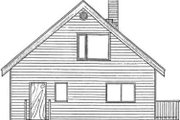 Log Style House Plan - 2 Beds 2 Baths 1362 Sq/Ft Plan #126-107 Exterior - Rear Elevation