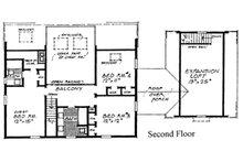 Colonial Floor Plan - Upper Floor Plan Plan #315-109