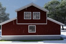 House Plan Design - Farmhouse Exterior - Rear Elevation Plan #1060-82