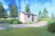 Modern Style House Plan - 1 Beds 1 Baths 311 Sq/Ft Plan #549-31 Exterior - Other Elevation