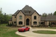 European Style House Plan - 3 Beds 4.5 Baths 4380 Sq/Ft Plan #17-2506 Exterior - Other Elevation
