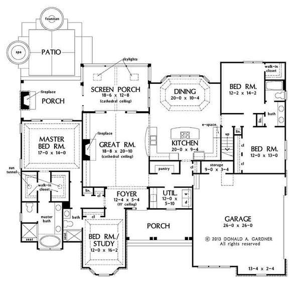 Country Floor Plan - Main Floor Plan #929-969