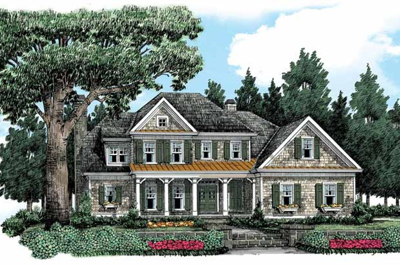 Country Exterior - Front Elevation Plan #927-361