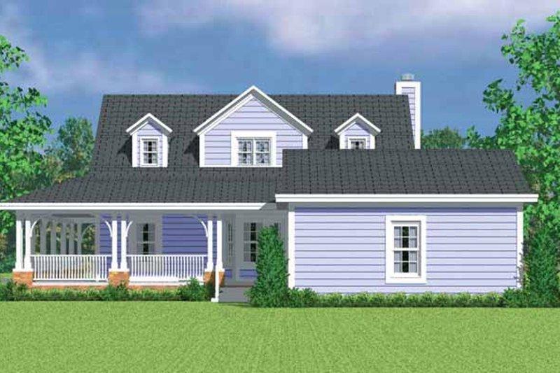 House Blueprint - Victorian Exterior - Rear Elevation Plan #72-1131