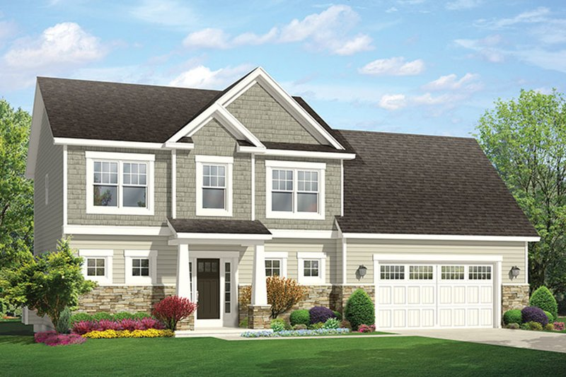 Architectural House Design - Traditional Exterior - Front Elevation Plan #1010-143