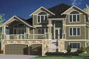 Contemporary Style House Plan - 4 Beds 3.5 Baths 3705 Sq/Ft Plan #951-8 Exterior - Front Elevation