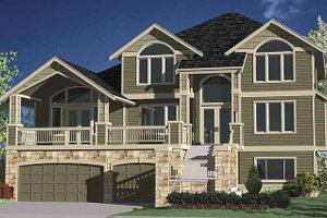 Architectural House Design - Contemporary Exterior - Front Elevation Plan #951-8