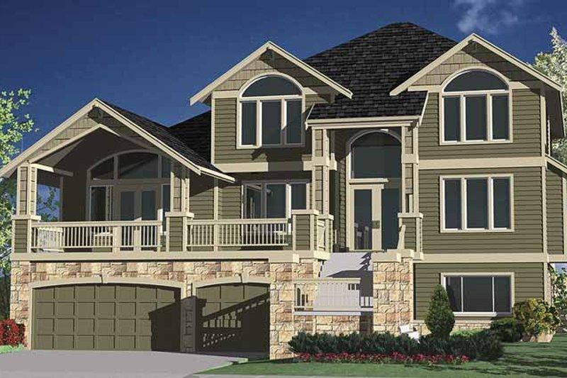 Contemporary Exterior - Front Elevation Plan #951-8 - Houseplans.com