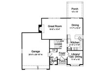 Traditional Floor Plan - Main Floor Plan Plan #46-492