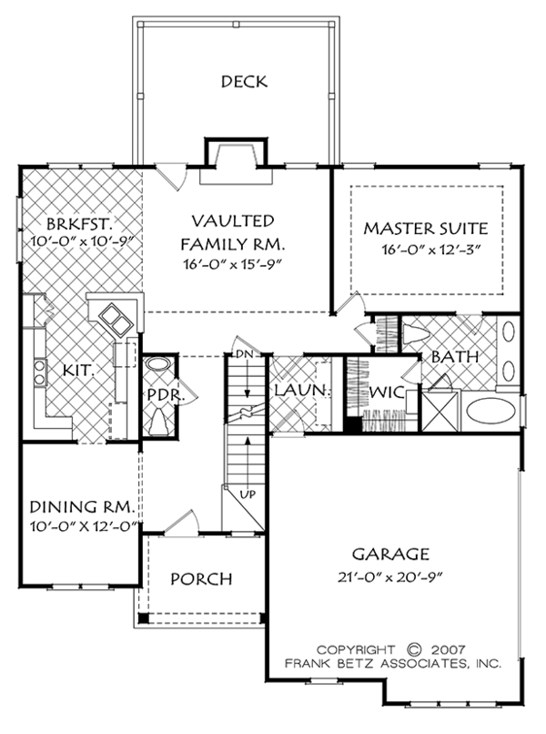 Colonial Floor Plan - Main Floor Plan Plan #927-973