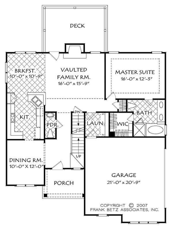 Colonial Floor Plan - Main Floor Plan Plan #927-973