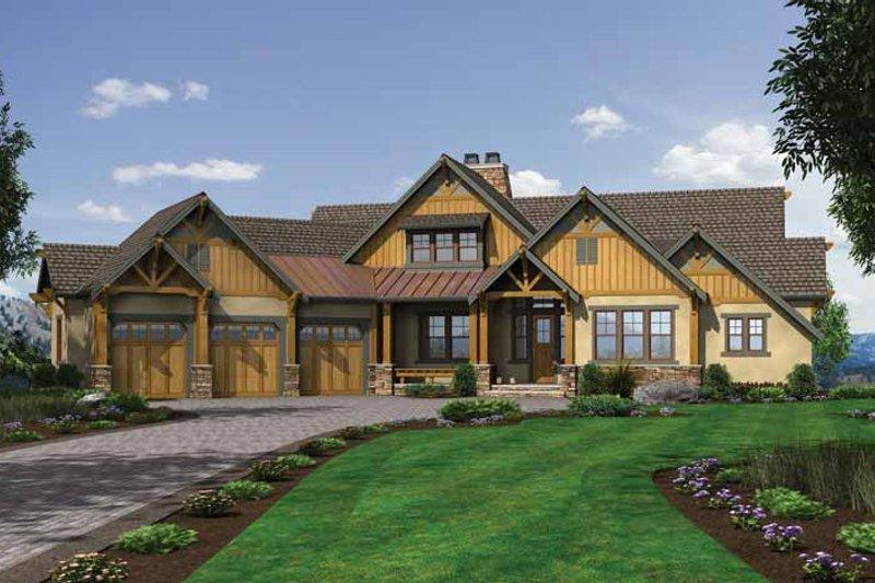 Dream House Plan - Craftsman Exterior - Front Elevation Plan #132-560