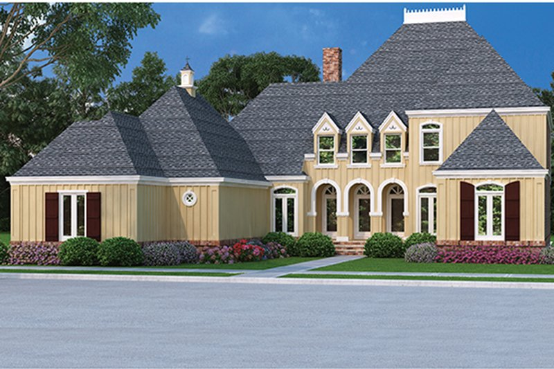 Country Exterior - Front Elevation Plan #45-449