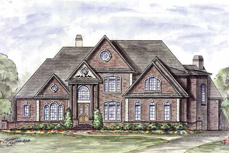 Architectural House Design - European Exterior - Front Elevation Plan #54-279